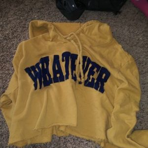 Whatever cropped hoodie size small